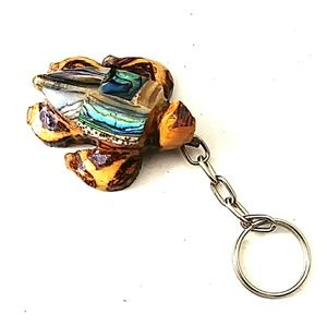 Other - Wooden Abalone Sea Turtle Key Chain